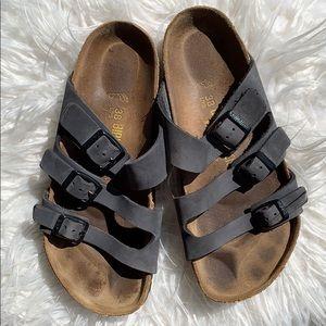 Navy blue birkenstock sandals